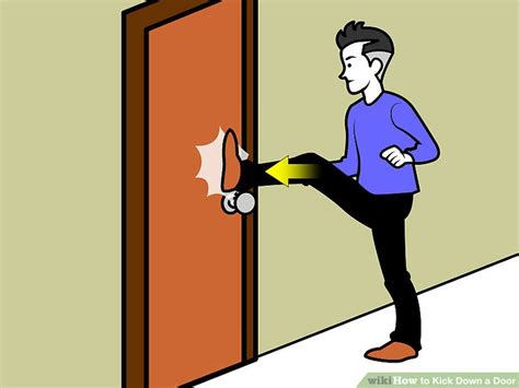how to secure a door from being kicked in 3 ways to kick a door wikihow