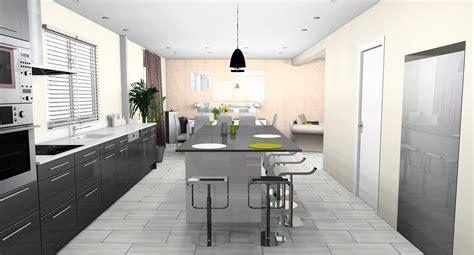 aménagement cuisine ouverte sur salle à manger déco cuisine ouverte sur salle a manger
