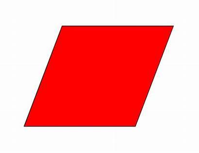 Rhombus Shapes Clipart Parallelogram Shape Clip Cliparts