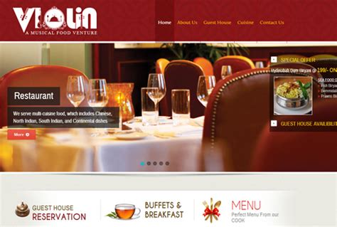 cuisine violine srk pixelsoft website designing company in vijayawada
