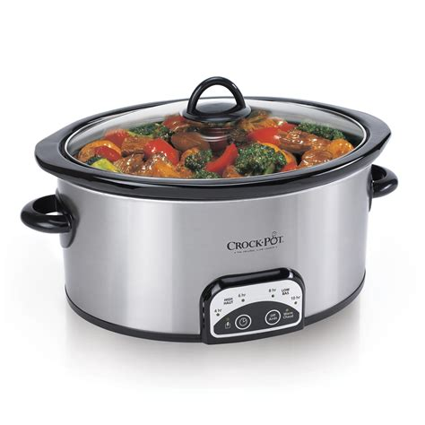 crock pot cooker crock pot 174 smart pot digital slow cooker stainless sccpvp400s 033 crock pot 174 canada