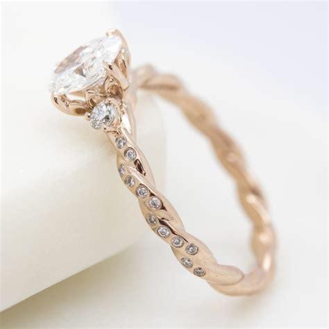 gold princess cut engagement rings custom engagement rings hart