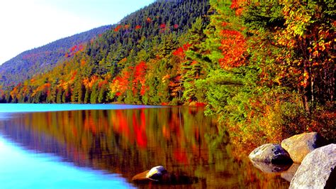 Desktop High Quality Fall Backgrounds by Autumn Forest Lake In High Quality Hd Desktop Wallpaper