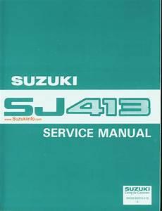 1991 Suzuki Samurai Sj413 Service Manual Pdf  70 5 Mb