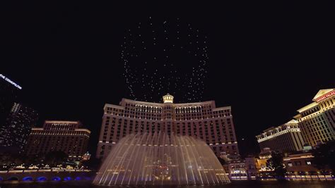 bellagio light show intel s light show drones are flying the bellagio
