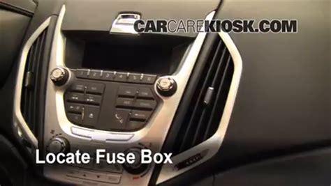 interior fuse box location   gmc terrain