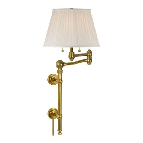 sargent large swing arm wall l in natural brass wall ls sconces lighting products