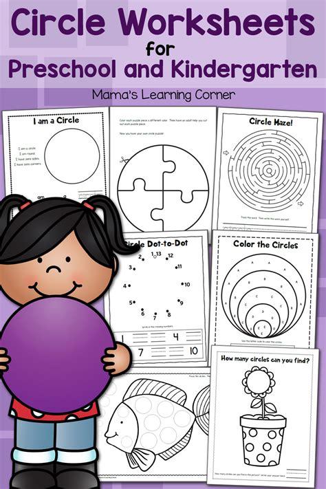 circle worksheets  preschool  kindergarten mamas