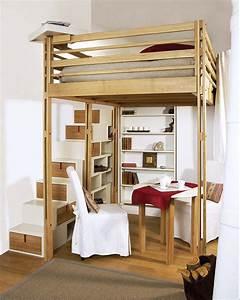 Lits mezzanines modulable for Chambre a coucher adulte avec convertible futon