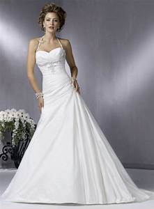 simple a line halter wedding dress With simple halter wedding dress