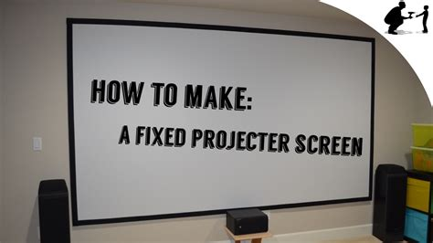 diy     fixed projector screen youtube
