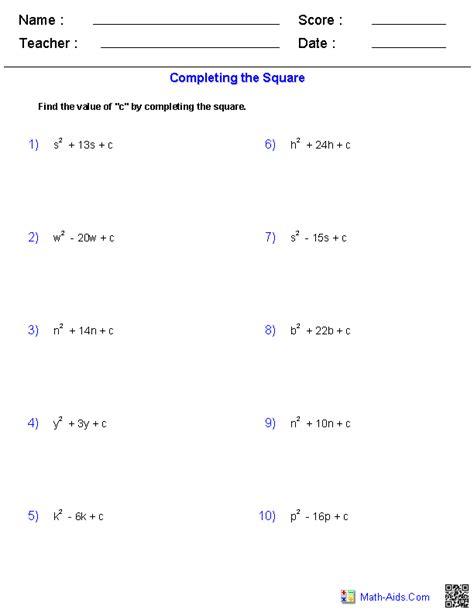 algebra  worksheets dynamically created algebra