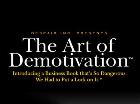 art  demotivation