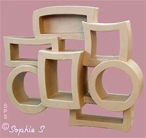 Meuble En Carton Design : etag re murale en carton plusieurs epaisseurs ~ Melissatoandfro.com Idées de Décoration