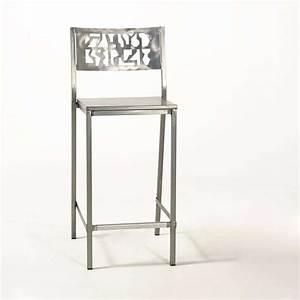 Tabouret De Bar Inox : tabouret de bar en acier bross slide industriel 4 pieds tables chaises et tabourets ~ Teatrodelosmanantiales.com Idées de Décoration