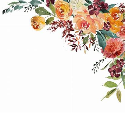 Watercolor Floral Autumn Wreath Painting Roses Garden