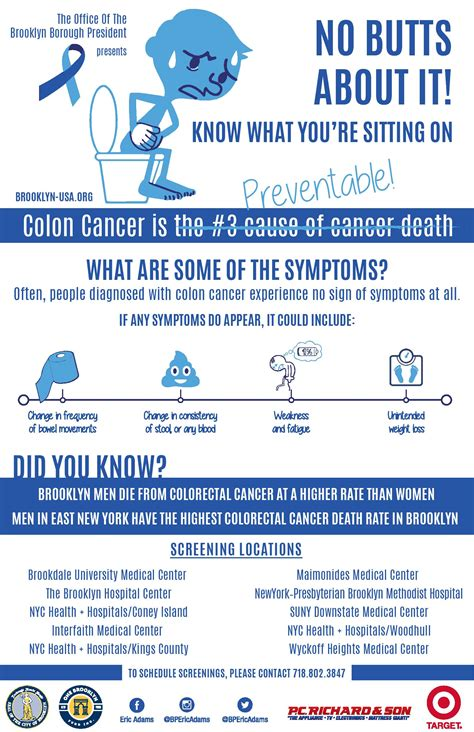 screenings colon cancer awareness month office
