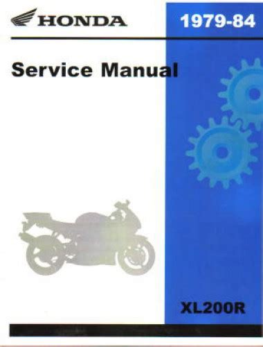 1979 1984 honda xl200r xl185s xl125s motorcycle service manual