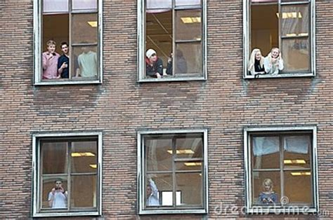people   multiple windows editorial photography