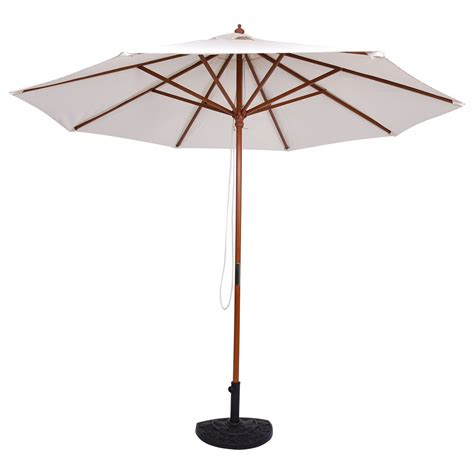 adjustable 10 ft wooden outdoor umbrella sunshade