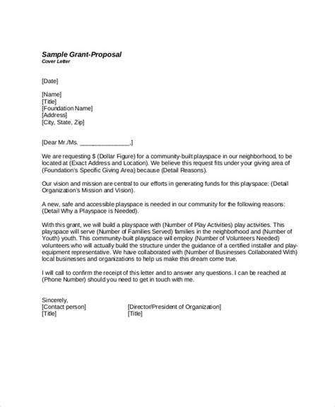 sample grant proposal letter  examples  word