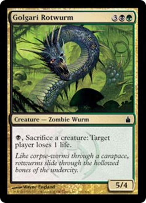 golgari rotwurm ravnica city of guilds gatherer magic the gathering