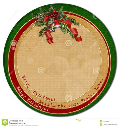 vintage christmas cardcircle template stock images