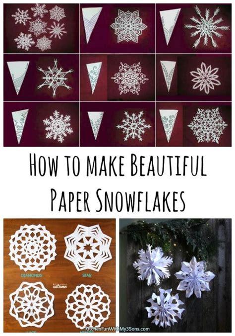 beautiful paper snowflakes kitchen fun