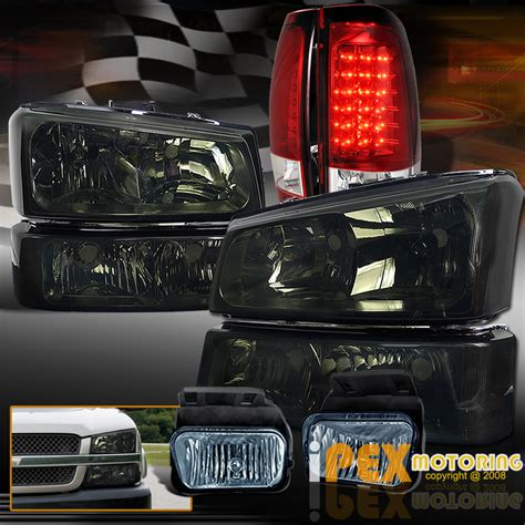 2006 silverado led lights 2003 2006 chevy silverado 1500 2500 smoke headlights fog