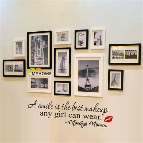 a simile is the best makeup any girl can wear marilyn monroe lettering wall stickers quotes art