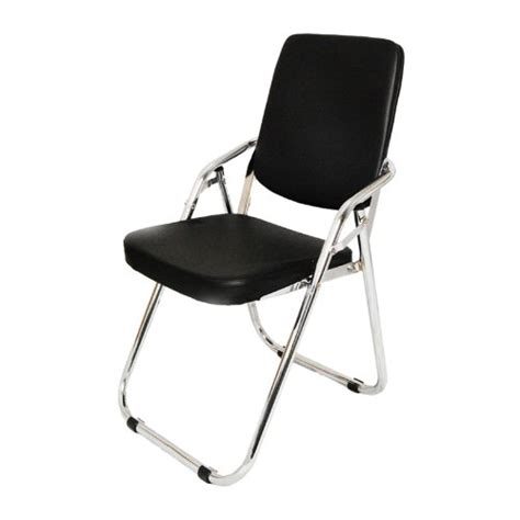 yi hai furniture thick padded metal folding chair black