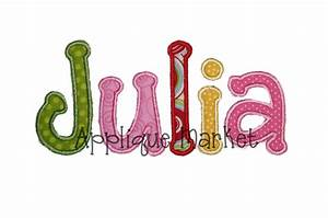 machine embroidery design julia applique alphabet instant With embroidery applique letters