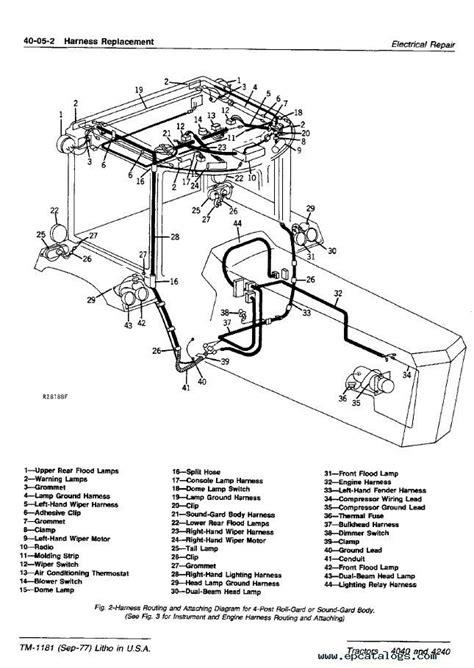 wiring schematic   john deere auto electrical