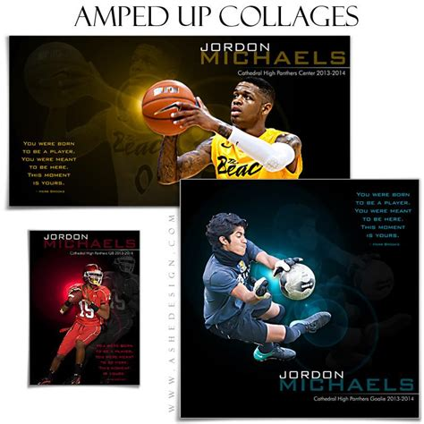 sports collage templates  moment   ashedesign