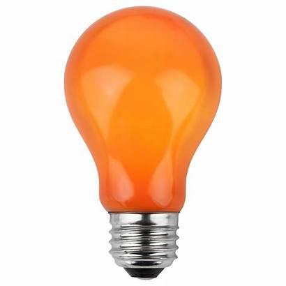 A19 Orange Bulbs Amber Opaque Bulb Party