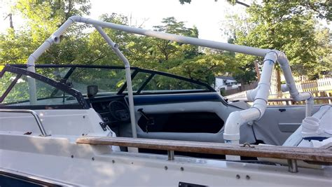 Motorboat Malaysia by My Quot Pvc Based Boat Cover Frame Support Quot Build Page 1