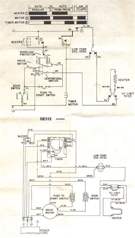 frigidaire dryer wiring diagram webtorme