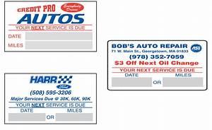 oil change stickers custom 2 1 2quot x 1 1 2quot buy now With custom oil change stickers