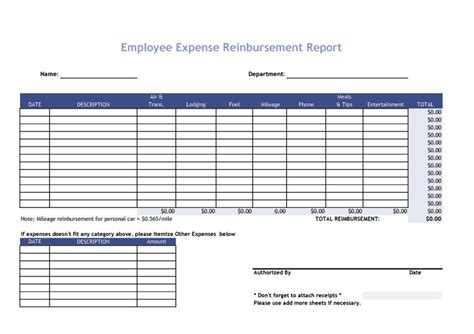 Expense Report Template 40 Expense Report Templates To Help You Save Money