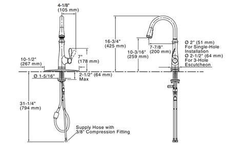 Kohler K-560-vs Bellera Pull Down Kitchen Faucet