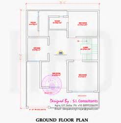 home plan design indian style flat roof house with floor plan