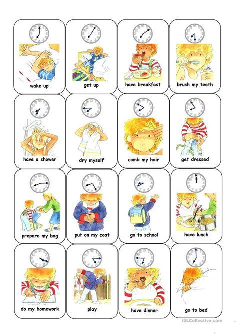 resultado de imagen de daily routine worksheet routine