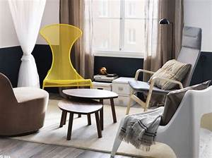 Petit Fauteuil Salon : petit salon fauteuils depareilles ikea h o m e pinterest salons tiny living rooms and ~ Teatrodelosmanantiales.com Idées de Décoration