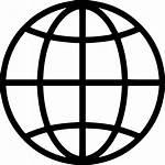 Earth Global Globe Icon Icons Internet Vector