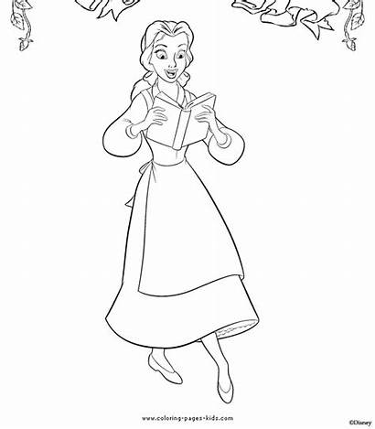 Coloring Belle Beast Pages Disney Beauty Princess
