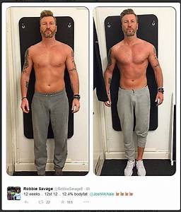 Robbie Savage displays chiseled pecs and rippling abs in ...