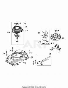Mtd 1x65ru Engine Parts Diagram For 1x65ru Flywheel  U0026 Shroud