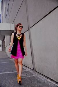 Yellow Neon Bubbles Necklaces Hot Pink Fringe Dresses