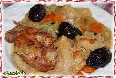 carottes cuisin馥s cuisin 39 délice potée de cuisses de lapin au chou et aux pruneaux