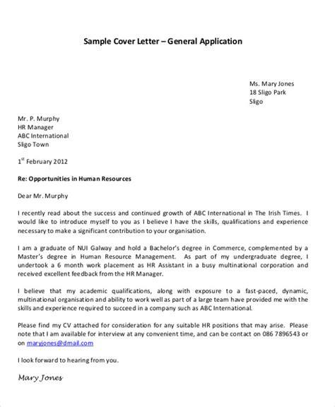 application letter templates format